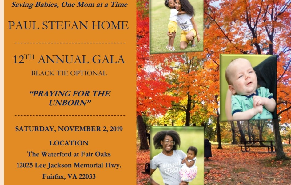 "November 2nd, 2019: The Paul Stefan Foundation's 12th Annual Gala ""Praying for the Unborn"""